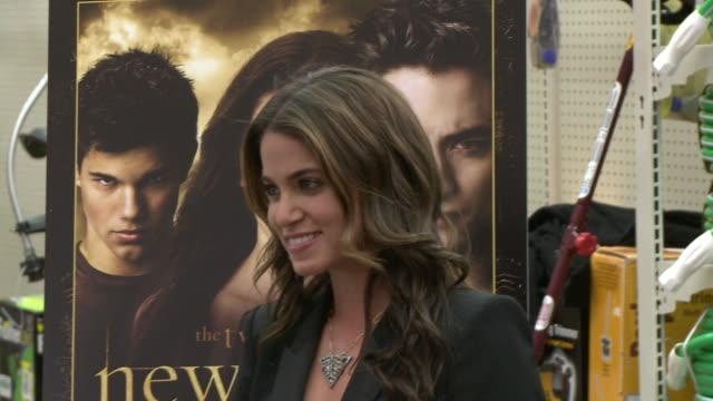 nikki reed at the summit home entertainment's 'new moon' dvd launch event at los angeles ca - nikki reed stock videos and b-roll footage
