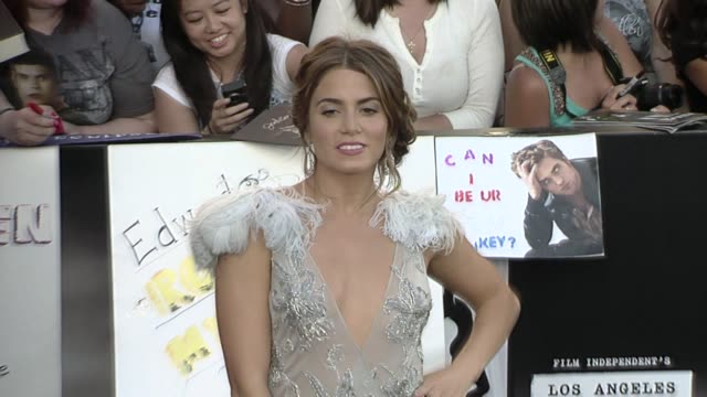 nikki reed at the 'the twilight saga: eclipse' premiere at los angeles ca. - nikki reed stock videos & royalty-free footage