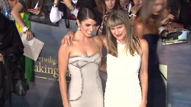 nikki reed catherine hardwicke at the twilight saga breaking dawn part two los angeles premiere on 11/12/12 in los angeles ca - nikki reed stock videos and b-roll footage