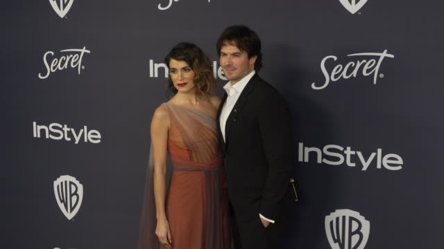 nikki reed, ian somerhalder at the beverly hilton hotel on january 05, 2020 in beverly hills, california. - nikki reed stock videos & royalty-free footage