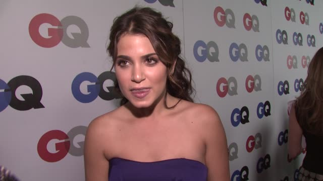 nikki reed on being at tonight's party and on her reaction to the election. at the gq men of the year awards at los angeles ca. - nikki reed stock videos & royalty-free footage