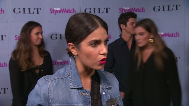 interview nikki reed on our obsession with denim on the wearability of denim on her favorite jeans and on her new single at people stylewatch hosts... - nikki reed stock videos and b-roll footage