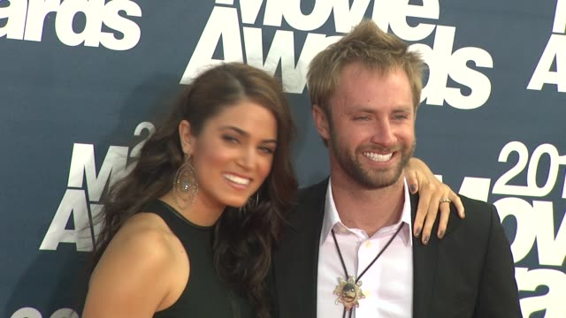 nikki reed paul mcdonald at the 2011 mtv movie awards at los angeles ca - nikki reed stock videos and b-roll footage