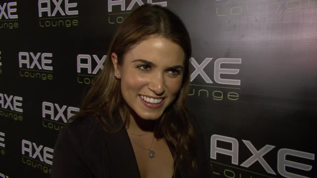nikki reed reacts to being told the total current box office grosses for the twilight saga eclipse at the celebrities celebrate 4th of july at axe... - nikki reed stock videos and b-roll footage