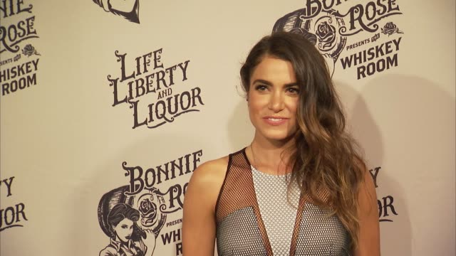 vídeos de stock, filmes e b-roll de nikki reed talks about her upcoming projects at bonnie rose, a new tennessee white whiskey launches in nashville on july 14, 2015 in nashville,... - nikki reed
