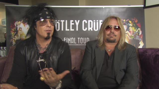 interview nikki sixx and vince neil on the end of the band critics being happy it's now the end motley crue january 1st is the end going out with... - vince neil stock videos and b-roll footage