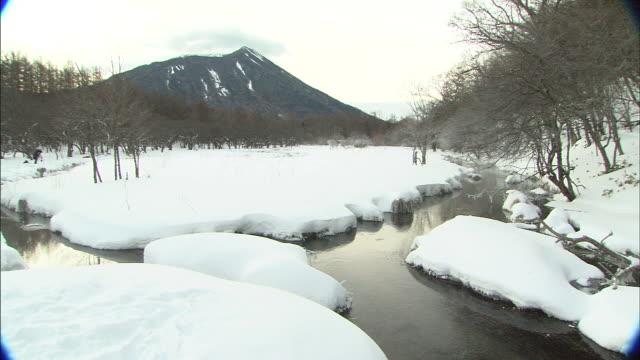 Nikko Remnant snow on Kotokunuma marsh  Long Shot