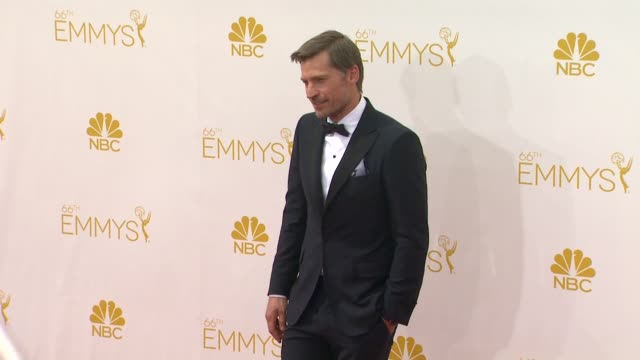 stockvideo's en b-roll-footage met nikolaj coster-waldau - 66th primetime emmy awards - arrivals at nokia theatre l.a. live on august 25, 2014 in los angeles, california. - famous place