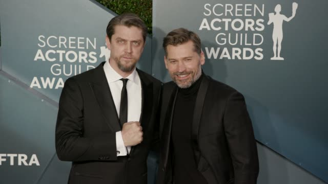 stockvideo's en b-roll-footage met nikolaj costerwaldau at the 26th annual screen actors guild awards arrivals at the shrine auditorium on january 19 2020 in los angeles california - screen actors guild
