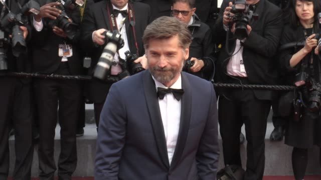nikolaj costerwaldau on the red carpet for the premiere of le grand bain at the cannes film festival 2018 sunday 13 may 2018 cannes france - 71st international cannes film festival stock videos & royalty-free footage