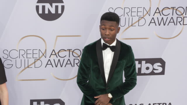 niles fitch at the 25th annual screen actors guild awards at the shrine auditorium on january 27 2019 in los angeles california - screen actors guild awards stock videos & royalty-free footage
