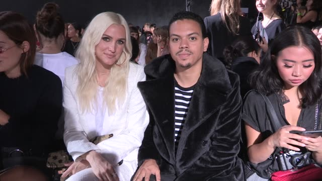 Nina Agdal Brandon Thomas Lee Ashlee Simpson and Evan Ross Caroline Vreeland and more Front Row for the Zadig Voltaire Ready to Wear Spring Summer...
