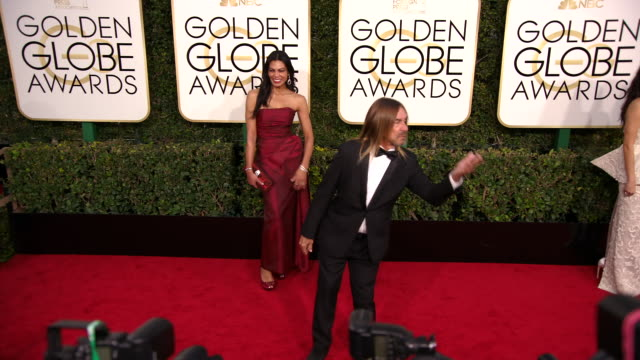 Nina Alu and Iggy Pop at the 74th Annual Golden Globe Awards Arrivals at The Beverly Hilton Hotel on January 08 2017 in Beverly Hills California 4K