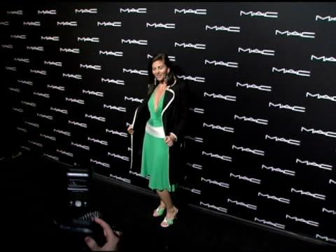 nina clemente at the olympus fashion week fall 2006 mac chinese dress party inside at eyebeam in new york, new york on february 2, 2006. - オリンパスファッションウィーク点の映像素材/bロール