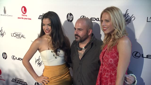 nina cortez brian burkhardt and christina caruso at project runway 10th anniversary party at highline on july 17 2012 in new york new york - project runway stock videos and b-roll footage