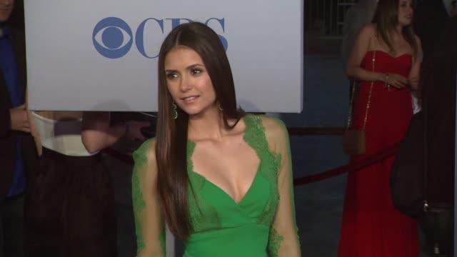 Nina Dobrev at 2012 People's Choice Awards Arrivals on 1/11/12 in Los Angeles CA