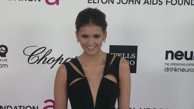 Nina Dobrev at Elton John Aids Foundation Celebrates 20th Annual Academy Awards Viewing Party on 2/26/12 in Hollywood CA