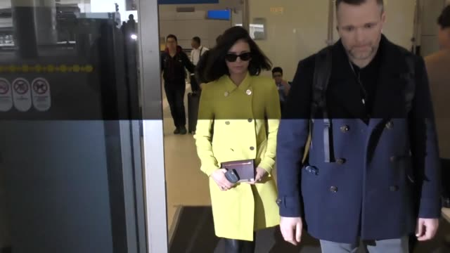 nina dobrev at los angeles international airport at celebrity sightings in los angeles on february 10 2017 in los angeles california - nina dobrev stock videos and b-roll footage
