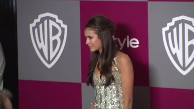 nina dobrev at the 2011 instyle/warner brothers golden globe awards party at beverly hills ca - nina dobrev stock videos and b-roll footage