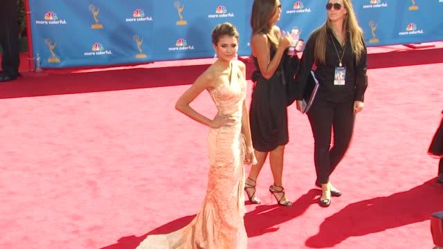 Nina Dobrev at the 62nd Primetime Emmy Awards Arrivals Part 2 at Los Angeles CA