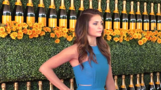 Nina Dobrev at the sixth annual Veuve Clicquot Polo Classic at Will Rogers Historic State Park in Pacific Palisades at Celebrity Sightings in Los...
