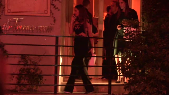 nina dobrev departing elle's women in television celebration at the sunset tower in west hollywood in celebrity sightings in los angeles - nina dobrev stock videos and b-roll footage