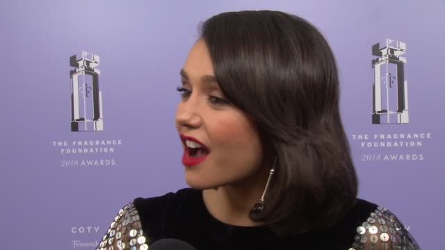 INTERVIEW Nina Dobrev on her favorite fragrances at the 2018 Fragrance Foundation Awards at Alice Tully Hall on June 12 2018 in New York City