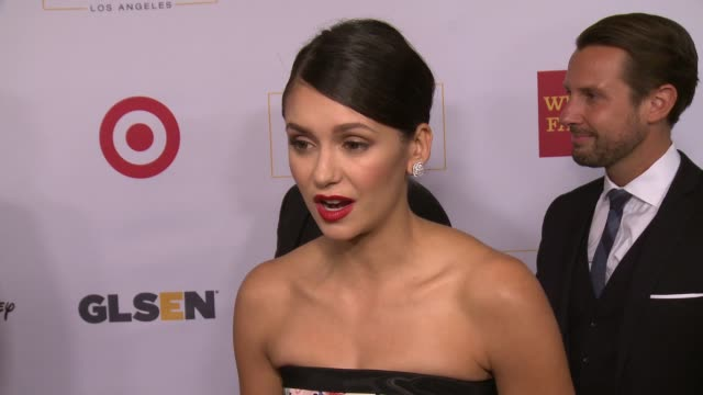 interview nina dobrev on the event at 2016 glsen respect awards – los angeles in los angeles ca - nina dobrev stock videos and b-roll footage