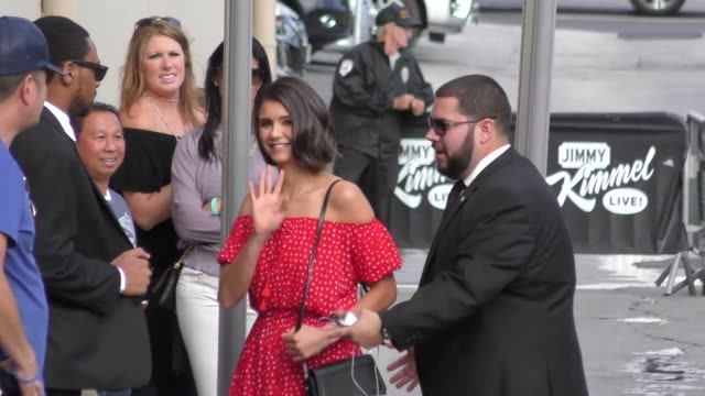 Nina Dobrev outside Jimmy Kimmel Live in Hollywood in Celebrity Sightings in Los Angeles