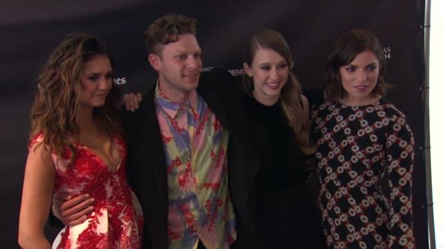 Nina Dobrev Taissa Farmiga Angela Trimbur and Todd StraussSchulson at the 2015 Los Angeles Film Festival Premiere of 'The Final Girls' at Regal...