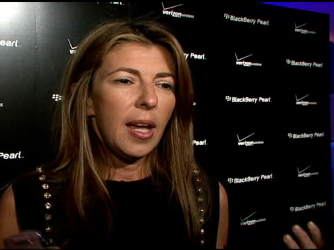 nina garcia on the blackberry pearl event, why the blackberry pearl is important to today's working woman, what we'll be seeing off the runway in... - electronic organiser stock videos & royalty-free footage