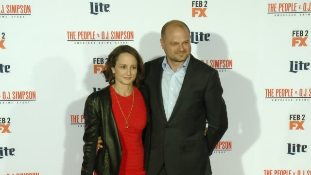 nina jacobson and brad simpson at fx's the people v oj simpson american crime story premiere at westwood village theatre on january 27 2016 in... - westwood village stock-videos und b-roll-filmmaterial