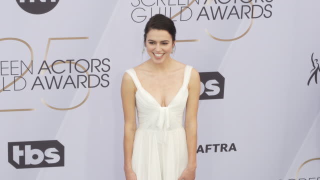 nina kiri at the 25th annual screen actors guild awards at the shrine auditorium on january 27 2019 in los angeles california - screen actors guild awards stock videos & royalty-free footage