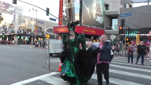 nina west outside the maleficent: mistress of evil premiere at el capitan theatre in hollywood in celebrity sightings in los angeles, - el capitan theatre stock videos & royalty-free footage