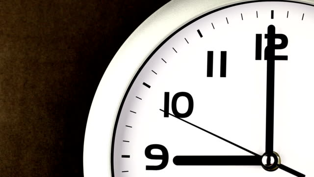 nine o'clock time - ticking clock - number 9 stock videos & royalty-free footage