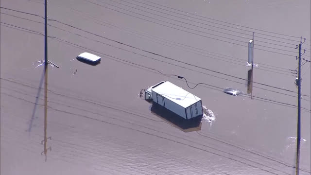 nine people were killed and one was reported missing in chiba prefecture after heavy rain caused flooding and landslides from oct. 25. in fukushima... - kanto region stock videos & royalty-free footage