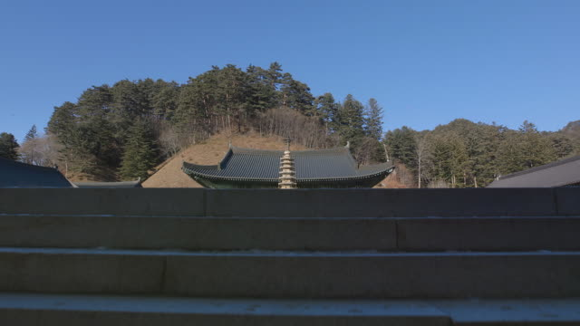 Nine Story Stone Pagoda (National Treasures of South Korea 48) at Woljeongsa Temple
