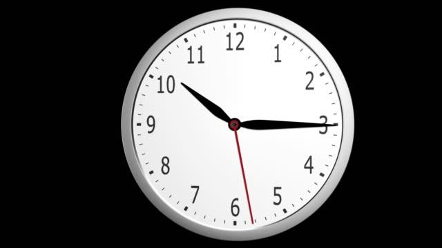 5 に 9 oclock 作業時間タイムラプス - 腕時計点の映像素材/bロール