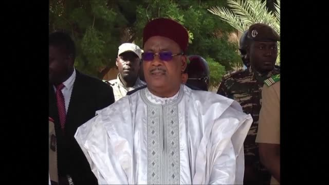 nine un peacekeepers killed last week in mali were buried wednesday in the niger capital niamey with president mahamadou issoufou in attendance along... - mahamadou issoufou stock videos and b-roll footage