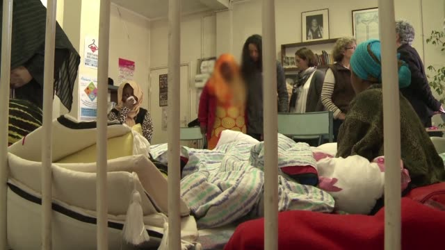 nine women from djibouti who are refugees in france enter the 13th day of a hunger strike over alleged rapes by soldiers fighting rebels in the tiny... - horn of africa stock videos & royalty-free footage