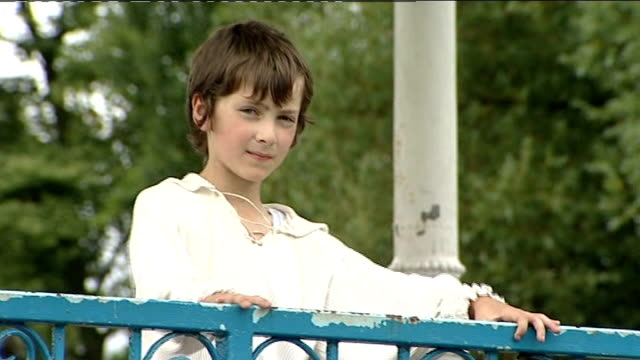 nine year old boy from barnsley wins place at royal ballet school ext keenan faulkner doing ballet exercises on bandstand jumping and doing pirouettes - bandstand stock videos and b-roll footage