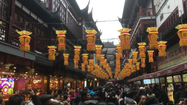 a ninemeter high cartoon pig lantern on the central square of shanghai yu garden shanghai yu garden lantern festival is a historic folk activity to... - chinese lantern festival stock videos and b-roll footage