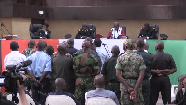 nineteen persons including general dogbo ble a former strongman in the laurent gbagbos regime appeared in abidjan before a military tribunal for the... - strongman stock videos & royalty-free footage