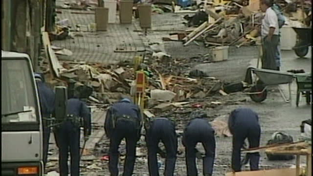 nineteen years after the omagh bombing, relatives of its victims are sueing northern ireland's police chief - saying failures in the investigation... - report stock videos & royalty-free footage