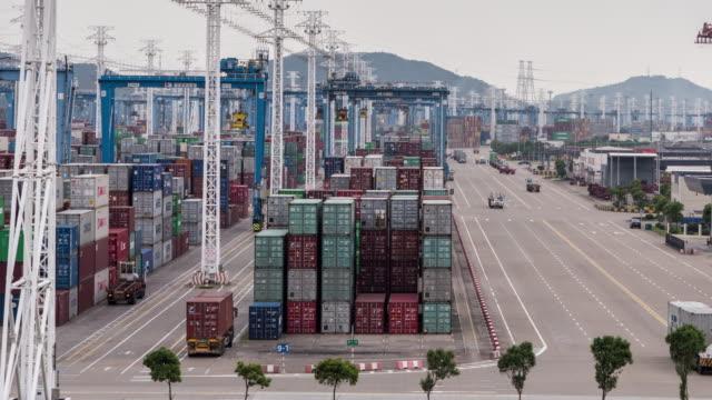 stockvideo's en b-roll-footage met ningbo port of china - ningbo