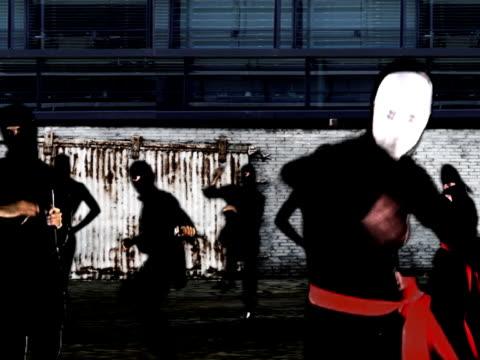 ninja army - organized crime stock videos and b-roll footage