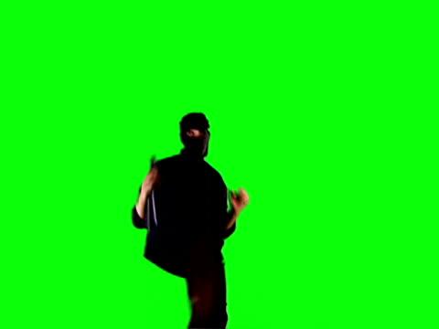 ninja chroma key - kicking stock videos & royalty-free footage