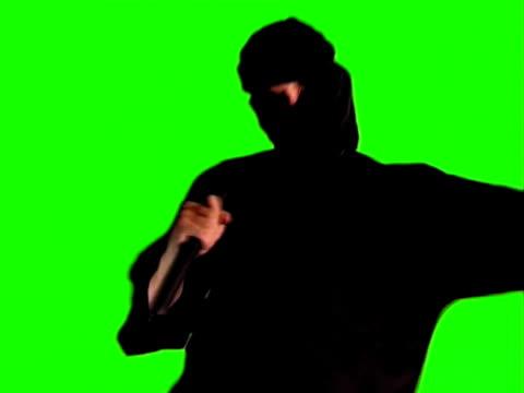 vídeos de stock, filmes e b-roll de sushi tipo ninja fight. chroma key foto. - karate