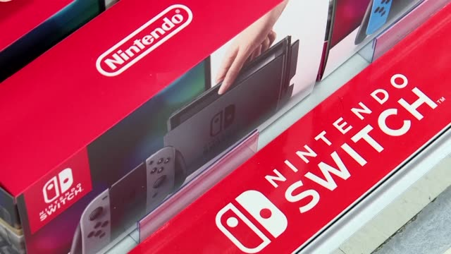 nintendo's switch console goes on sale in a global launch seen as key to the japanese videogame giant reversing flagging sales and moving past the... - launch event stock videos & royalty-free footage