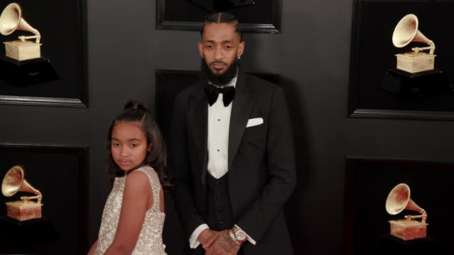 stockvideo's en b-roll-footage met nipsey hussle at the 61st grammy awards arrivals at staples center on february 10 2019 in los angeles california editorial - grammy awards